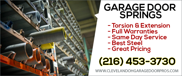 Broken Garage Door Springs Cleveland Oh Same Day Service